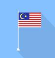 Malaysian flag vector image