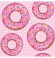 Texture of donuts on a pink color vector image