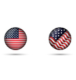 United States Flag Glossy Button vector image