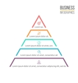 Pyramid triangle with 5 steps levels vector image
