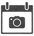 Photo Camera Calendar Day Grainy Texture Icon vector image