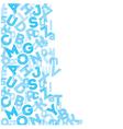 Blue alphabet background vector image