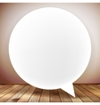 Speech bubble on wooden background plus EPS10 vector image vector image