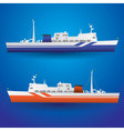 ferry ship eps10 vector image