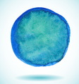 Blue isolated watercolor paint circle vector image vector image