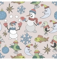 Merry Christmas background Seamless texture vector image vector image