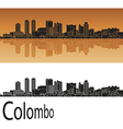 Colombo skyline in orange vector image vector image