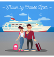 Cruise Liner Travel Cruise Liner Passenger Ship vector image