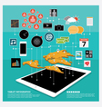 Tablet Infographic and Icon Sesign vector image