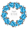 hibiscus floral wreath vector image vector image