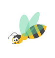 adorable wasp with striped body and transparent vector image