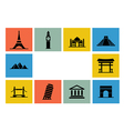 Destination Icon set vector image