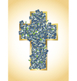 Easter Holiday Cross vector image