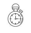 line chronometer to know and meter the time vector image