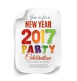 New Year party poster template isolated on white vector image