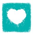 Paint blue Heart from vintage texture paper vector image