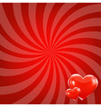 Red Beams And Hearts vector image
