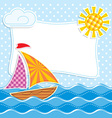 sea textiles vector image