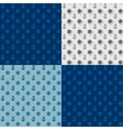 Seamless patterns set anchors and steering wheel vector image
