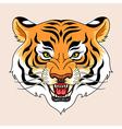 tiger tattoo green vector image