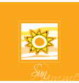 Sun Card vector image