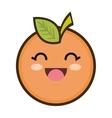 kawaii cartoon orange fruit vector image