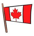 flag of canada icon cartoon vector image