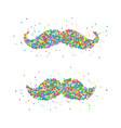 retro mustache icon vector image