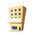cartoon inn restaurant building vector image