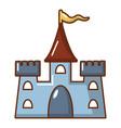 castle construction icon cartoon style vector image