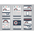 Design business flyer in a flat style vector image