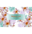 exotic flowers design card background for vector image