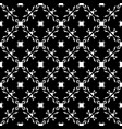 seamless pattern monochrome floral lattice vector image