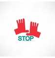 stop hands icon vector image