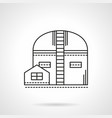 storehouse flat line icon vector image