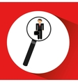 human resources searching leader executive graphic vector image