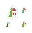 stylish concept paper sticker on white background vector image