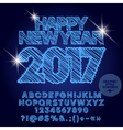 Shiny drawn Happy New Year 2017 greeting card vector image