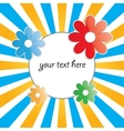 bright round frame vector image vector image