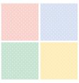 Colorful seamless patterns polka dots set Vector Image