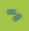 circus show entrance tickets templatecolorful vector image vector image