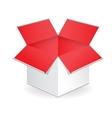 Big white gift box vector image