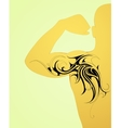Maori body art tattoo on arm and back vector image vector image