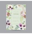 Vintage Floral Frame - for Invitation Wedding vector image vector image