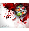 Success in Business conceptual background with a vector image vector image