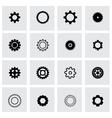 black gear icon set vector image