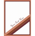 Chocolate color card vector image
