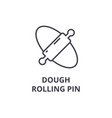 dough rolling pin line icon outline sign linear vector image