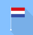 Netherlands flag vector image