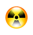 Radioactive symbol isolated on white vector image